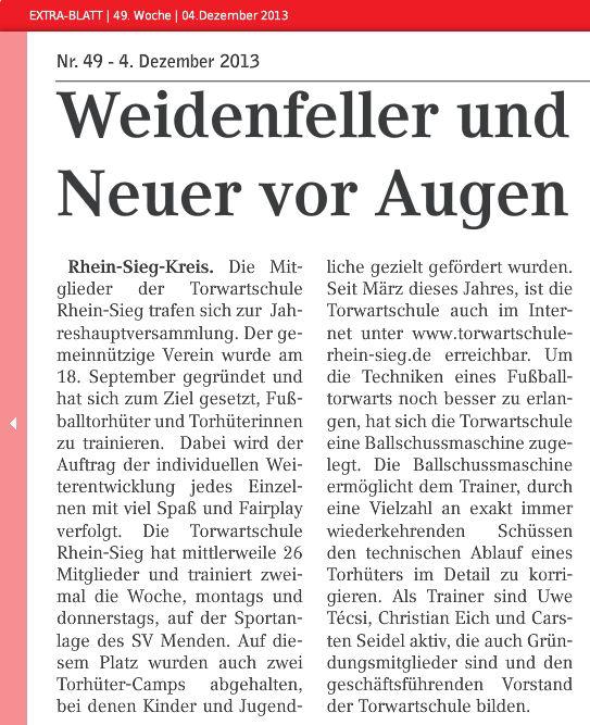 Extrablatt 49. Woche